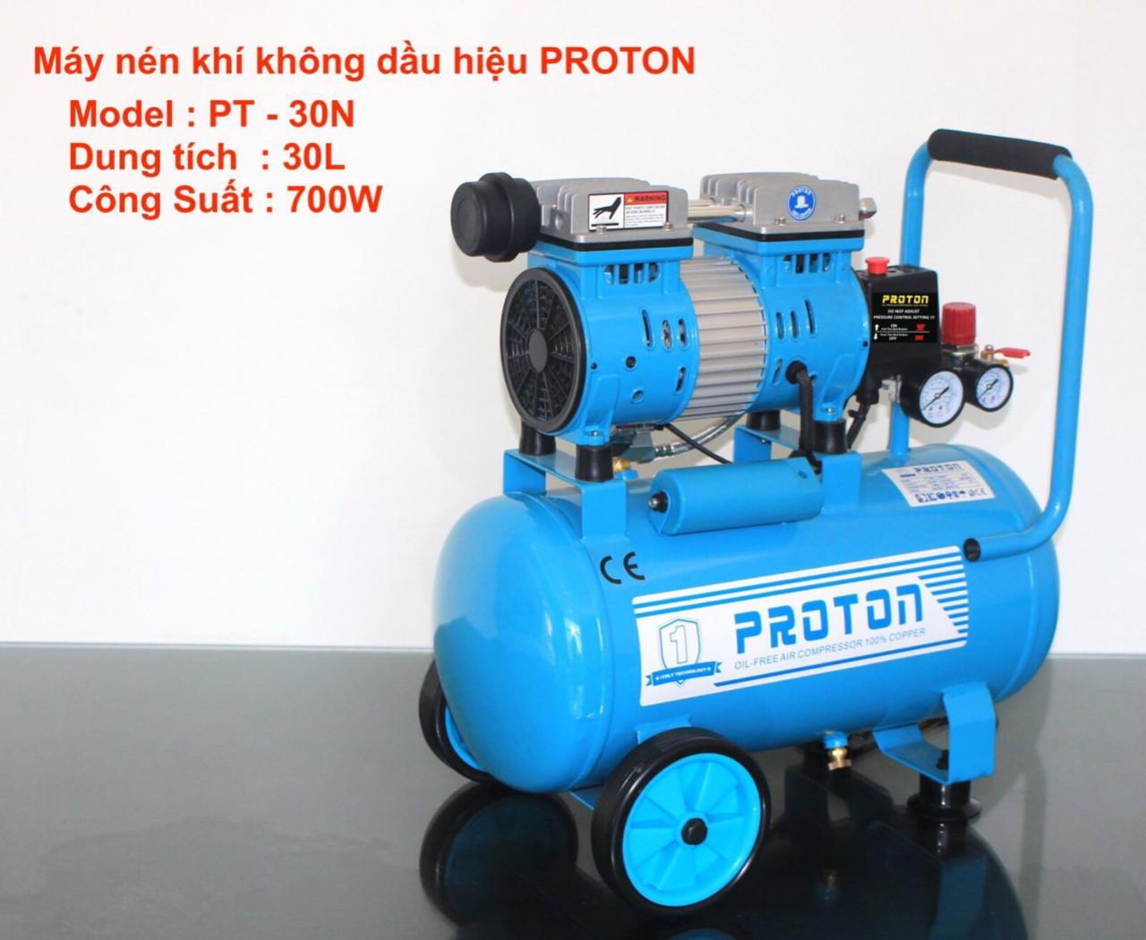 Máy nén khí không dầu Proton 30 lit